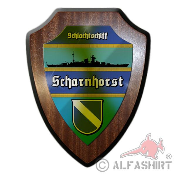 Heraldic shield battleship Scharnhorst silhouette coat of arms badge # 12060