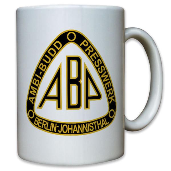 AMBI BUDD Presswerk Berlin Johannisthal ABP Panzer Firma WK - Tasse #12366