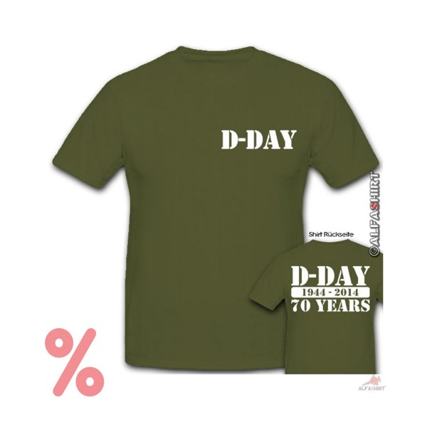 SALE Shirt 70 years D-Day 70 years 1944-2014 meeting - T-Shirt # R241