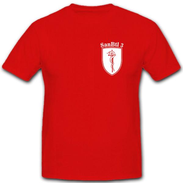 SanBtl 3 Sanitätsbataillon Sanitäter Bundeswehr Bw Versorgung - T Shirt #5508