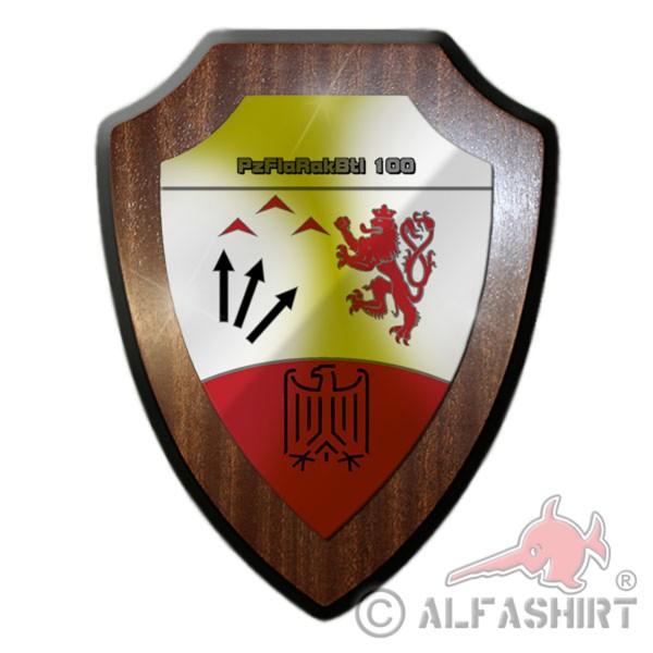 Wappenschild / Wandschild / Wappen - PzFlaRakBtl 100 Panzer Flugabwehr #11654