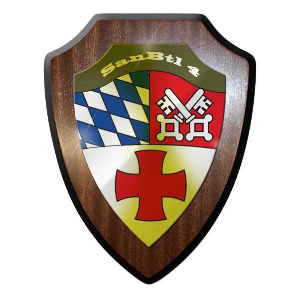 Wappenschild / Wandschild / Wappen - SanBtl 4 Sanitäts Bataillon #10002