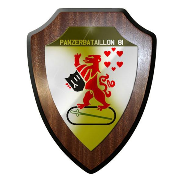 Wappenschild / Wandschild / Wappen - Panzer Bataillon PzBtl 81 Bw Soldaten #8360