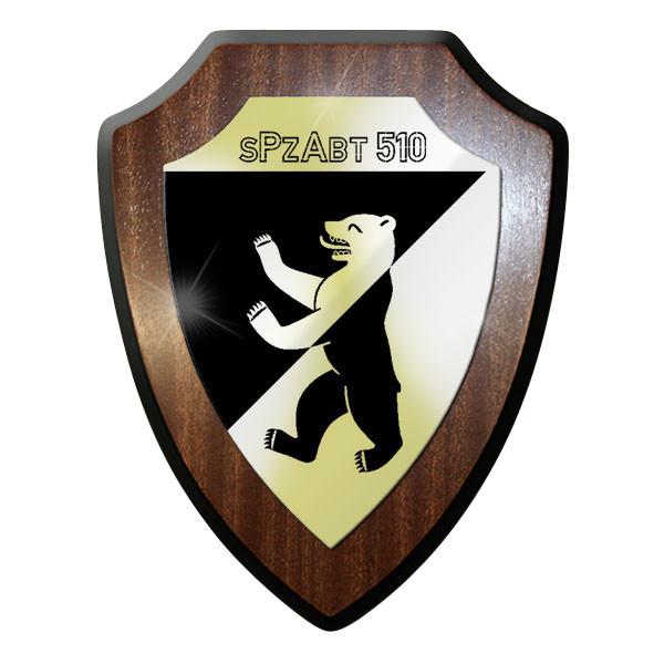 Wappenschild / Wandschild / Wappen - sPzAbt 510 schwere Panzer Abteilung #11631