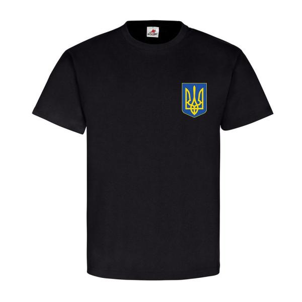 Ukrajina coat of arms emblem badge Freedom for Ukraine stop killing T Shirt # 11331