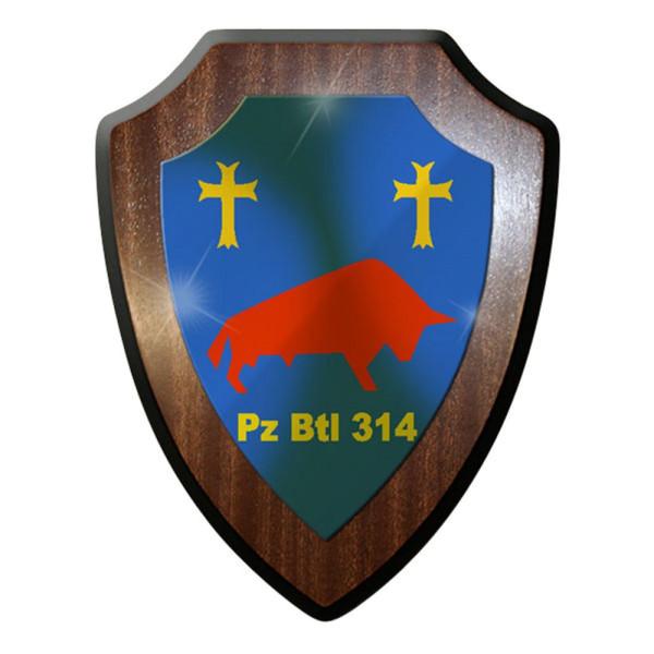 Wappenschild / Wandschild / Wappen - Panzerbataillon 314 PzBtl Panzer #8341