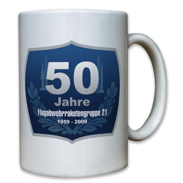 50 Jahre Flarakgrp 21 Bundeswehr Flugabwehr Raketen Flieger - Tasse #8050