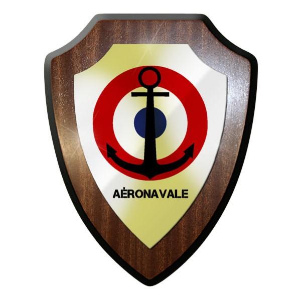 Wappenschild - Aéronavale Frankreich Luftwaffe Marine Soldaten Korkade #11896
