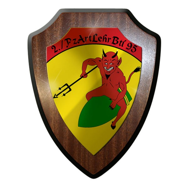 Wappenschild / Wandschild / Wappen -2 Pzartlehrbtl 95 Kompanie Abzeichen #8027