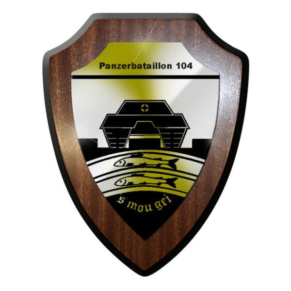 Wappenschild / Wandschild / Wappen - Panzerbataillon 104 PzBtl Bundeswehr #8370
