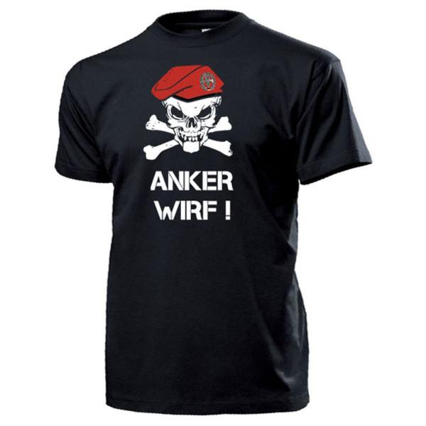 Pioniere BW Barett Schädel_Bundeswehr Pionier Anker Wirf Pio - T Shirt #14325