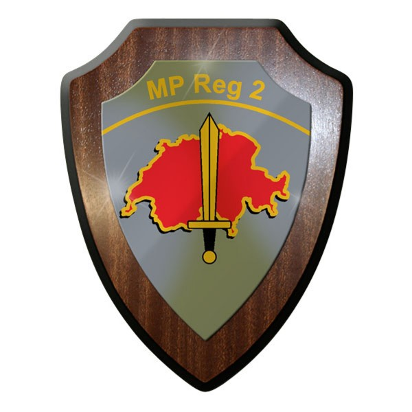 Wappenschild - Militärpolizei Region 2 MP Reg 2 Schweizer Armee #11916