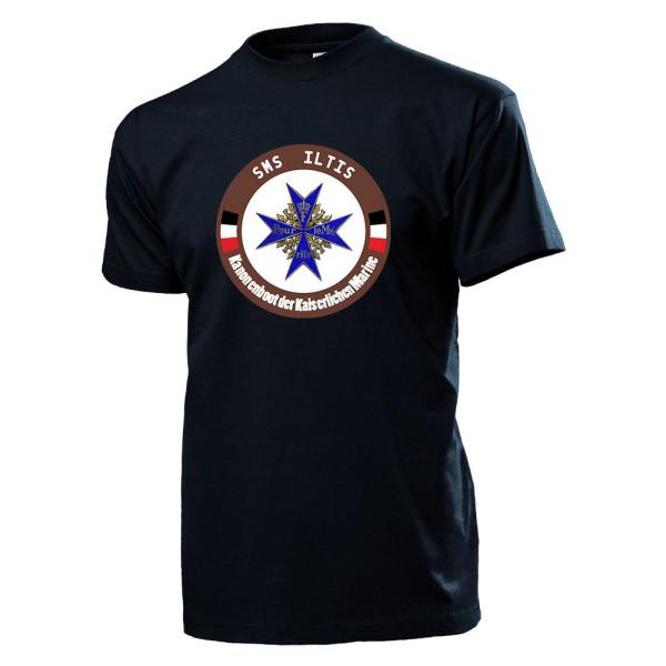 SMS Iltis Marine Kaiser Wilhelm Gunboat East Asia Colonies - T Shirt # 11522