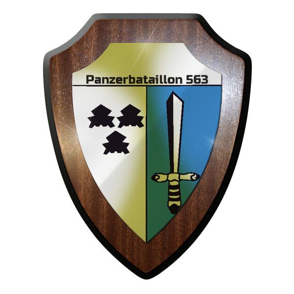 Wappenschild / Wandschild / Wappen - Panzerbataillon 563 PzBtl Panzer Bw #8347