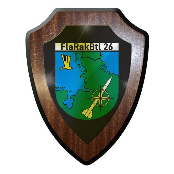 Wappenschild - FlaRakBtl 26 Flugabwehr Raketen Bataillon Bundeswehr Bund #10035