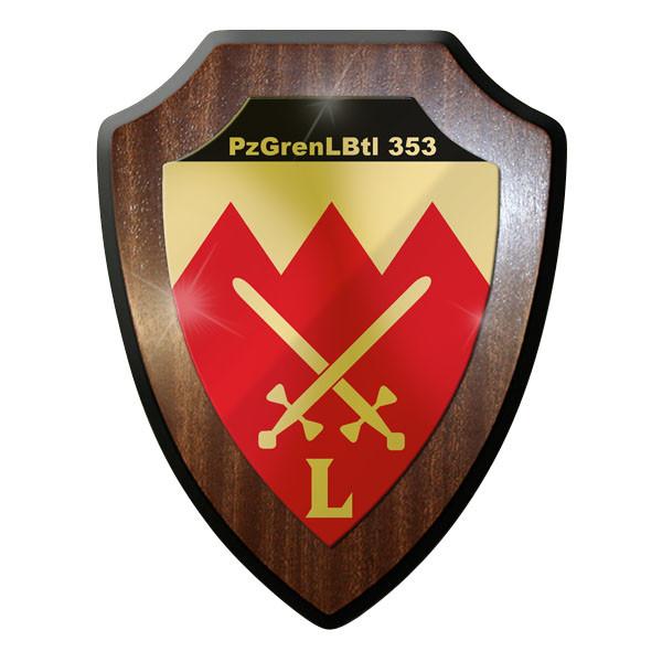 Wappenschild - PzGrenLBtl 353 dran drauf drüber Schule Bundeswehr Bund Bw #9233