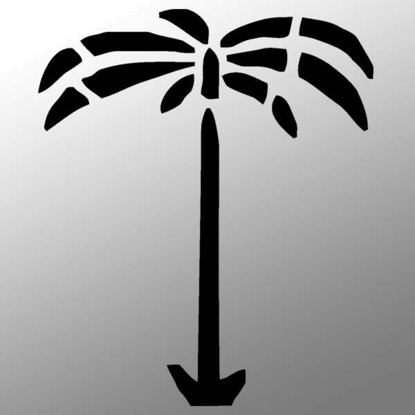 Afrikakorps Palme Aufkleber Sticker 10cm A033