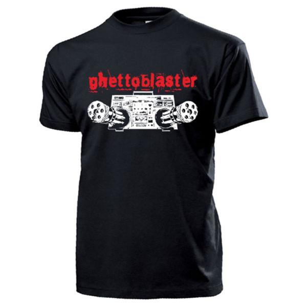 Ghettoblaster Musik Humor Fun Radio Disco Gatling - T Shirt #13241