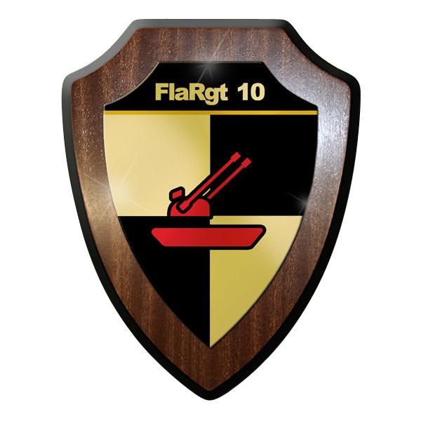 Wappenschild / Wandschild / Wappen - FlaRgt 10 Flugabwehrregiment #11653