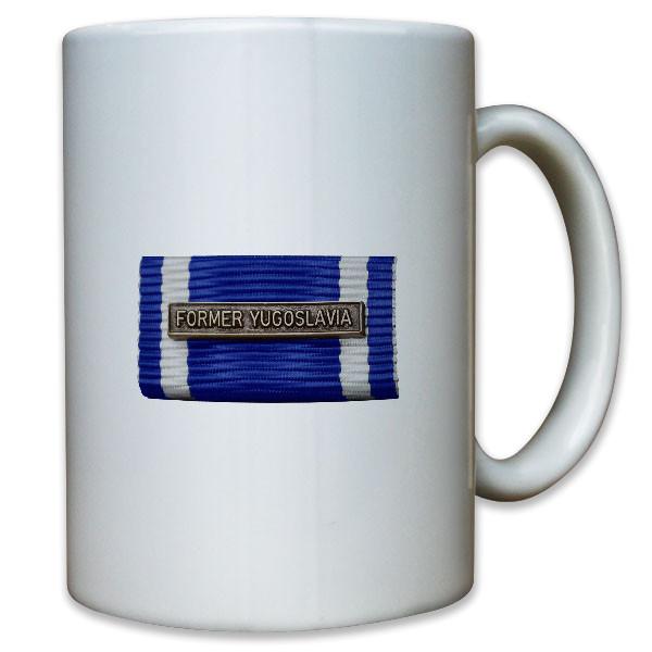 Ordensspange Former Yugoslavia Auslandseinsatz Schutztruppe - Tasse #10974