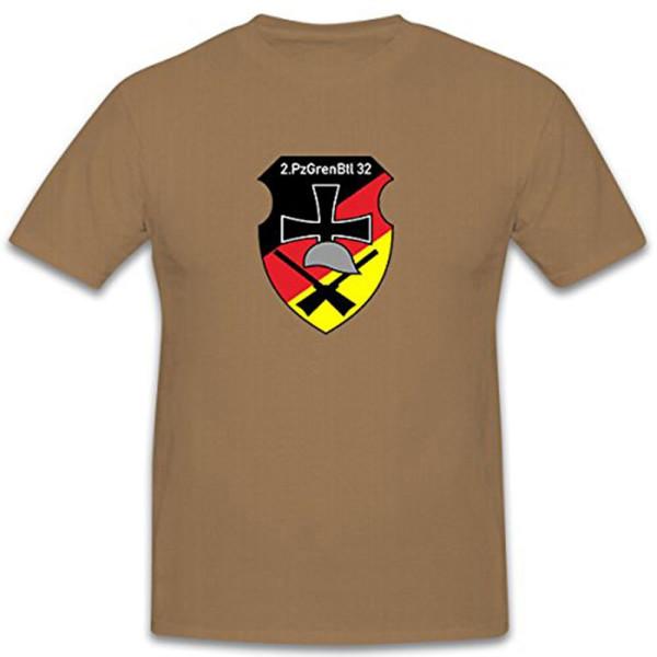 2 PzGrenBtl 32 Variante II 2 Kompanie Panzergrenadierbataillon 32 T Shirt #12131