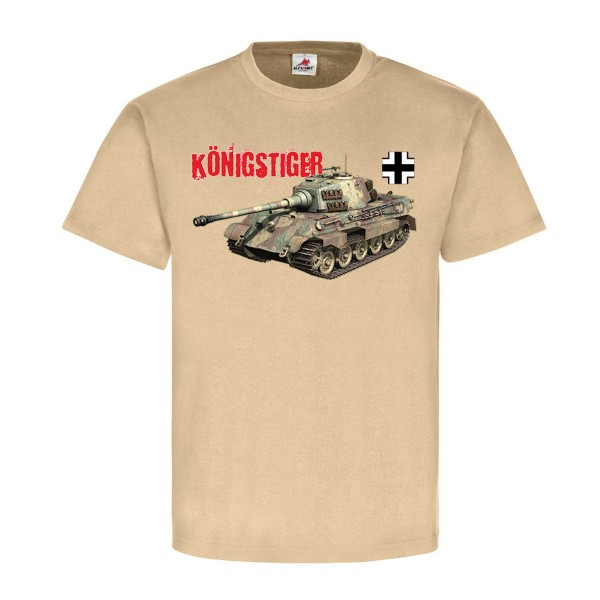 King Tiger with sPzAbt 503 Feldherrnhalle Wh Wk Heavy - T Shirt # 12555