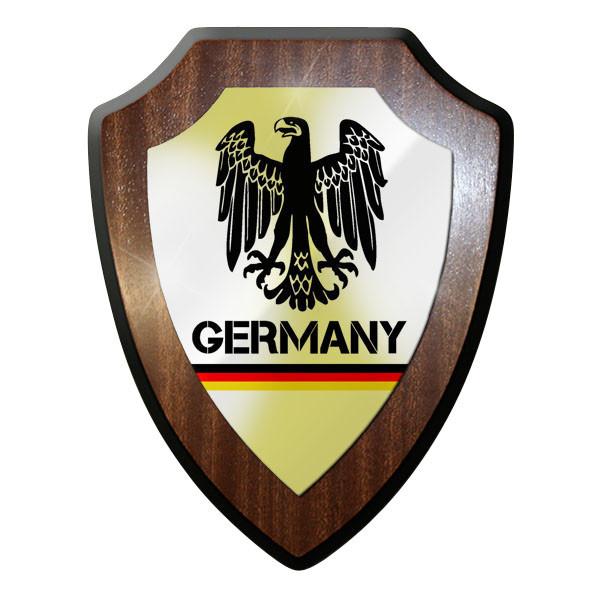 Wappenschild / Wandschild - Germany Bundesadler Deutschland Flagge #11895