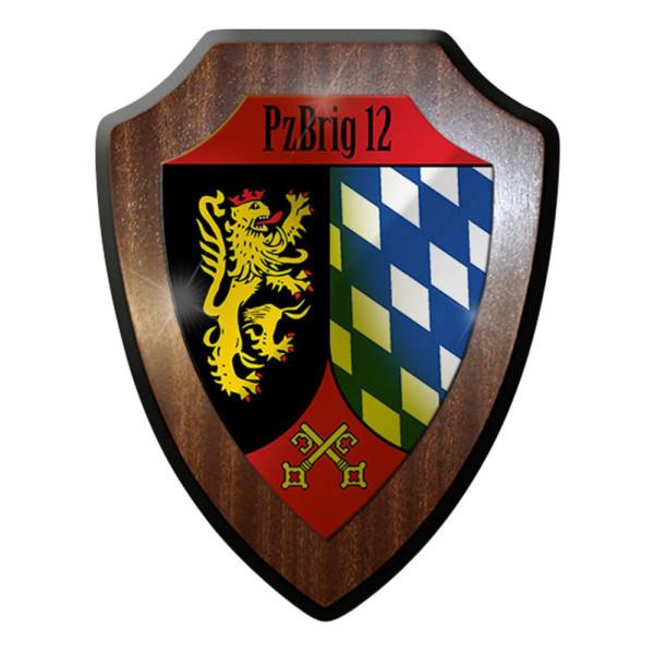 Wappenschild / Wandschild -PzBrig 12 Bundeswehr Panzerbrigade 12 Militär #12785