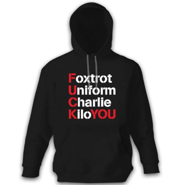 FUCK YOU Foxtrot Uniform Charlie Kilo Militär Alphabet - Kapuzenpullover #10679
