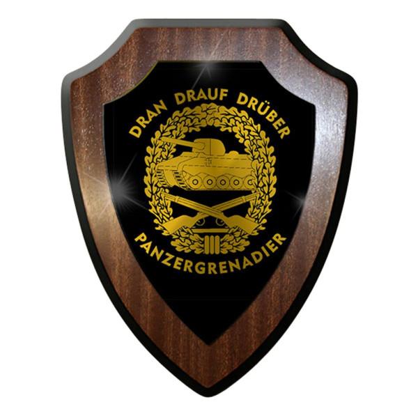 Wappenschild / Wandschild -Pzgren Deutschland Militär Abzeichen Emblem#7423