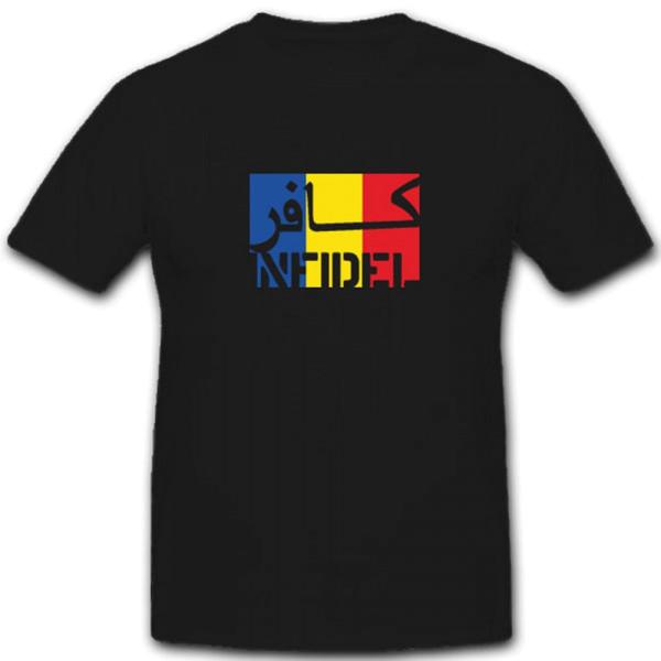 Infidel-Rumänien Infidel ungläubiger ISAF Anti Terror Fahne- T Shirt #7584