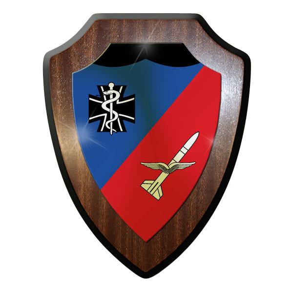Wappenschild / Wandschild - SanStff FlaRakGrp 24 Bundeswehr Luftwaffe #11985