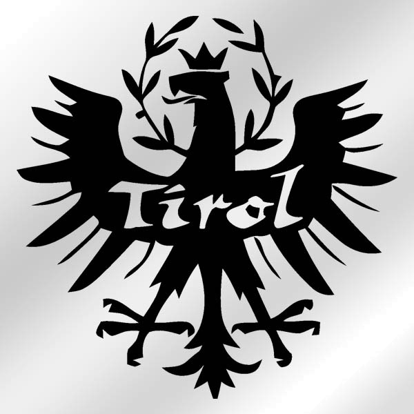 Aufkleber / Sticker Tirol Adler Wappen Abzeichen Südtirol 15x15cm #A043