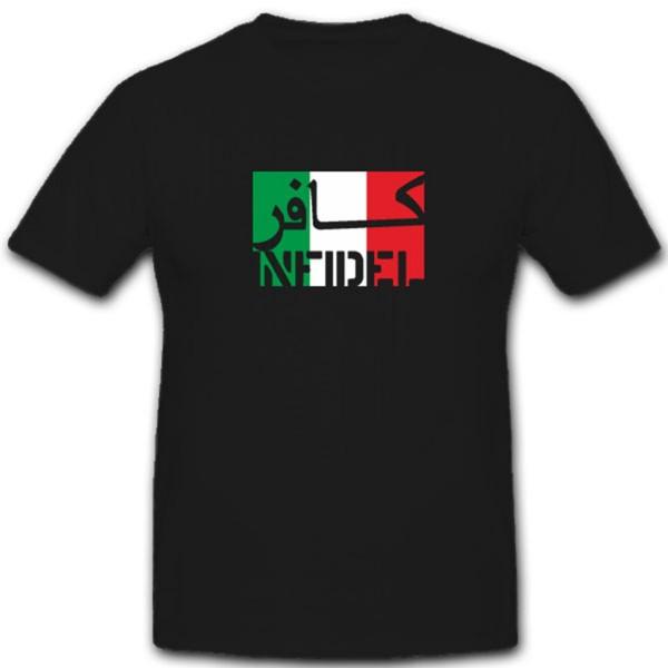 Italien Infidel Ungläubiger ISAF Armee Army Streitkräfte Fahne- T Shirt #7581