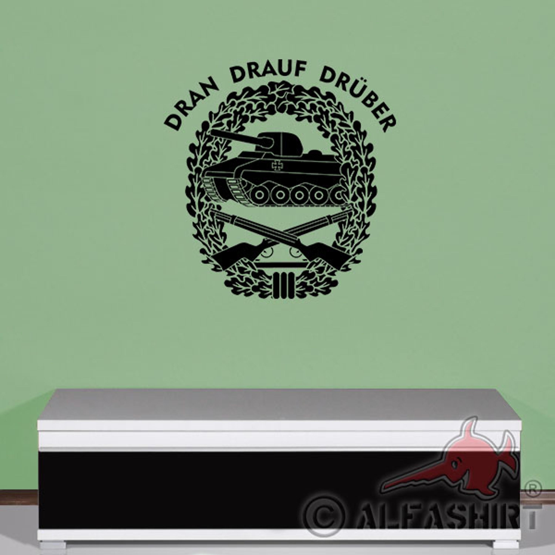 Panzergrenadier Dran-Drauf-Drüber PzGren Barettabzeichen Emblem Tasse #18336