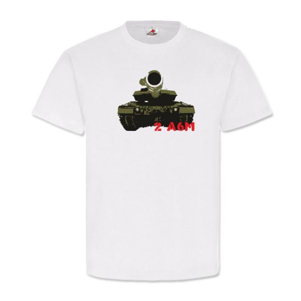 2 A6M Panzer Geschütz Militär Waffe Bundeswehr WK Wh - T Shirt #3261