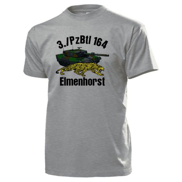 3./PzBtl 164 Elmenhorst Panzerbataillon Kompanie Bundeswehr - T Shirt #13995