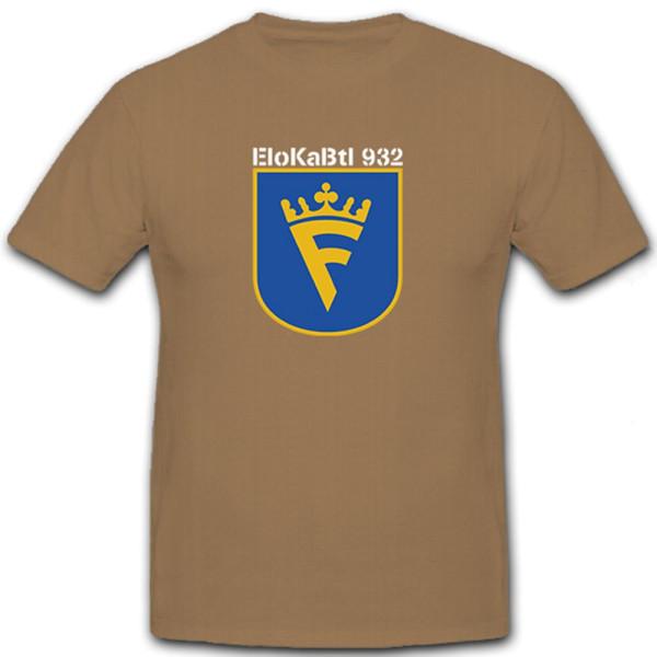 EloKaBtl 932 Bataillon Elektronische Kampfführung Bundeswehr - T Shirt #6515