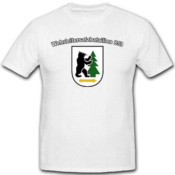WltErsBtl 859 - Wehrleitersatzbataillon Bundeswehr Wappen - T Shirt #10528