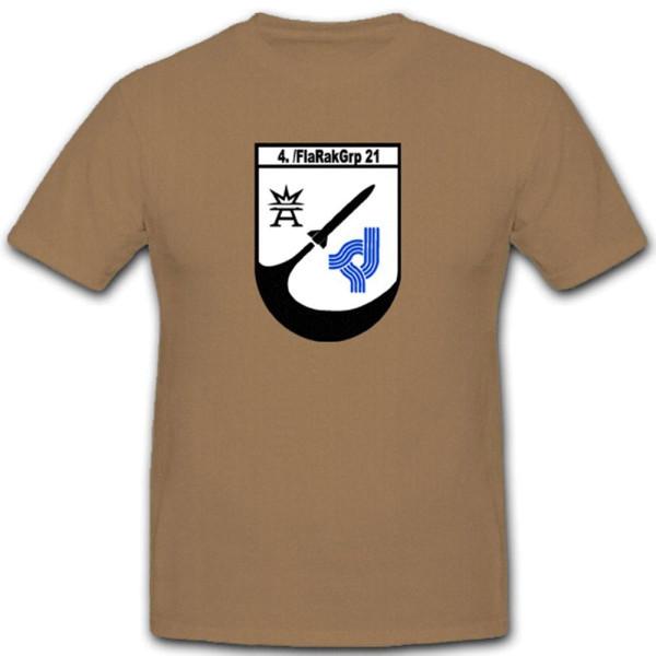 4 Flarakgrp. 21 Gruppe Flak Raketen Wappen Einheit Abzeichen - T Shirt #3815