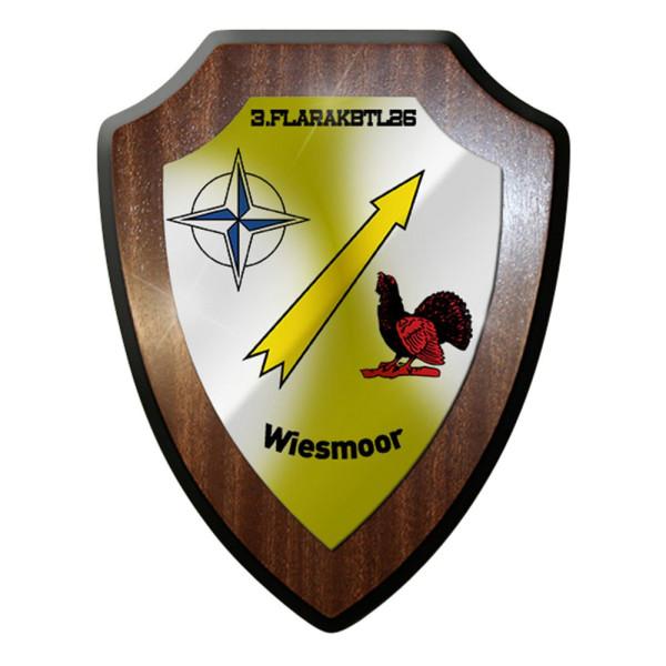 Wappenschild / Wandschild -3 Flarakbtl 26 Bundeswehr Wappen Raketen Einheit#7670