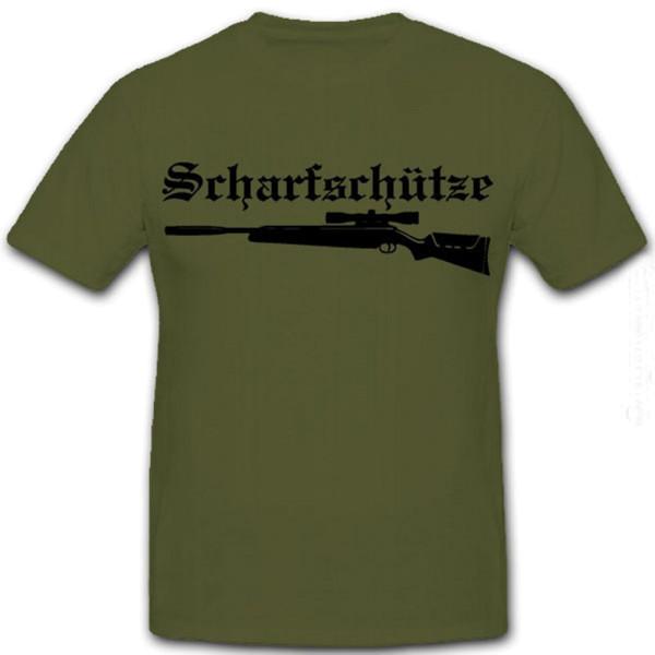 Sniper Szenario Scharfschütze Luftgewehr Jäger Sniper Sportgewehr- T Shirt #4279
