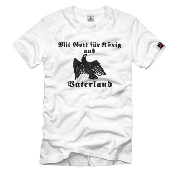 Gott König Vaterland Vogel Adler Tier Wappen Abzeichen Orden - T Shirt #1234