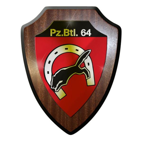 Wappenschild / Wandschild / Wappen - PzBtl 64 Panzerbataillon Panzer #8422