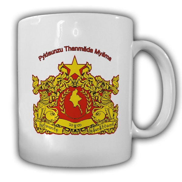 Republik der Union Myanmar Wappen Emblem Tasse #13814
