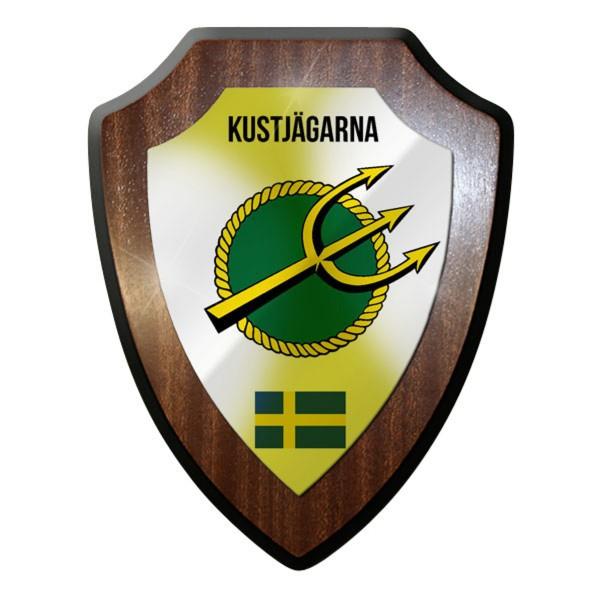 Wappenschild / Wandschild - Kustjägarna Schweden schwedische Marine #10065