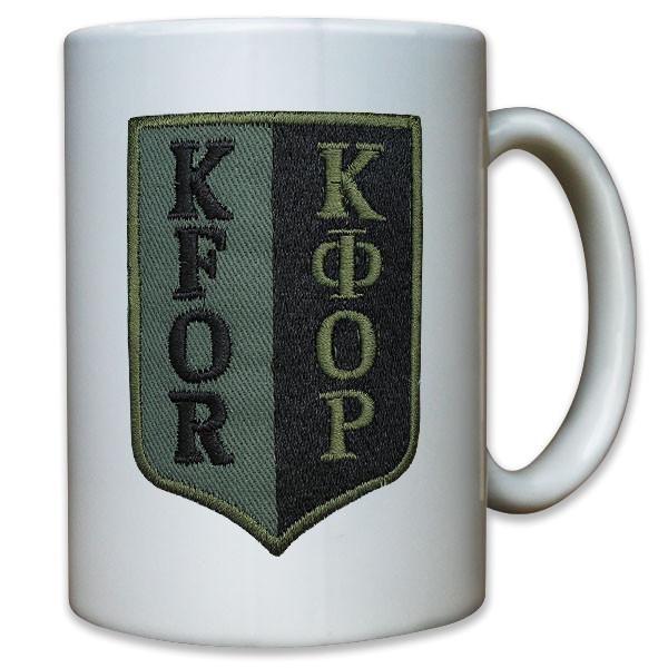 Abzeichen KFOR Kosovo Forces Bundeswehr Andenken - Tasse Kaffee #10939