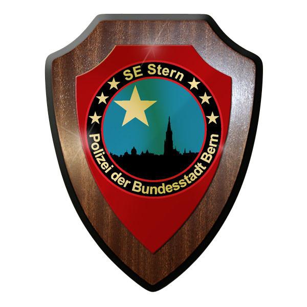 Wappenschild - SE Stern Polizei der Bundesstadt Bern Schweiz SEK #11910