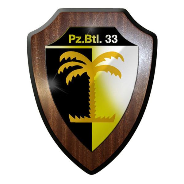 Wappenschild / Wandschild / Wappen - PzBtl 33 Panzerbataillon Panzer #8419