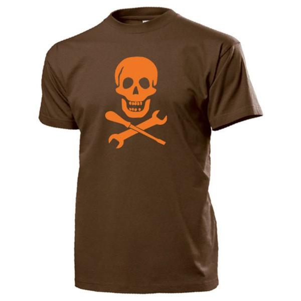 Tuner Totenschädel Hobby Schrauber KFZ Mechaniker Kult Fan - T Shirt #13777